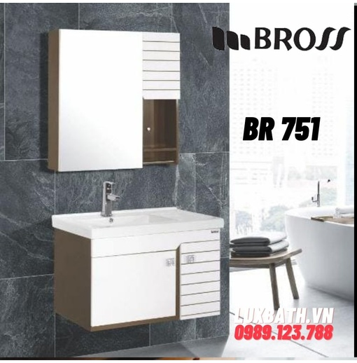 Bộ tủ chậu nhựa Bross BR 751