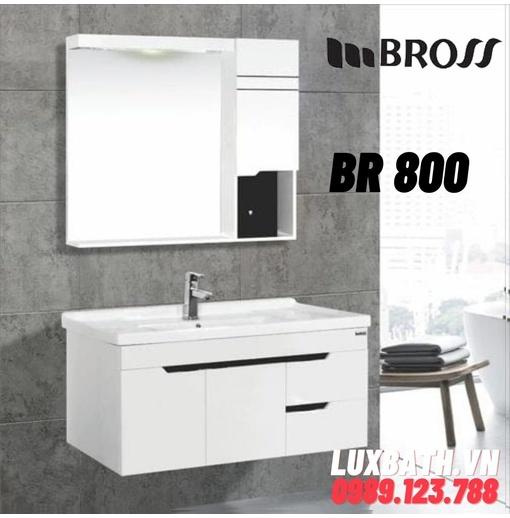 Bộ tủ chậu nhựa 2 ngăn Bross BR 800