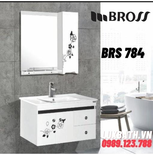 Bộ tủ chậu nhựa 2 ngăn Bross BRS 784