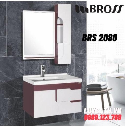 Bộ tủ chậu 2 ngăn kèm gương Bross BRS 2080