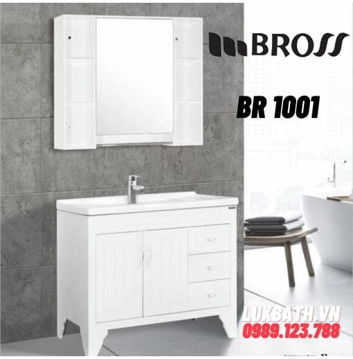 Bộ tủ chậu nhựa PVC 2 ngăn Bross BR 1001