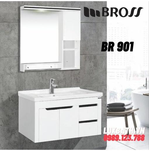 Bộ tủ chậu nhựa PVC Bross BR 901