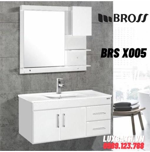 Bộ tủ chậu nhựa 2 ngăn PVC Bross BR X005