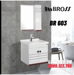 Bộ tủ chậu nhựa PVC Bross BR 603