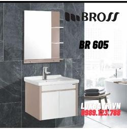 Bộ tủ chậu nhựa 1 ngăn Bross BR 605