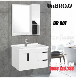 Bộ tủ chậu nhựa Bross BR 801