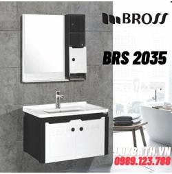 Bộ tủ chậu nhựa Bross BRS 2035