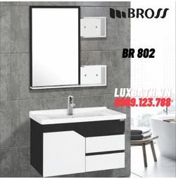 Bộ tủ chậu kèm gương Bross BR 802