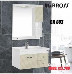 Bộ tủ chậu kèm gương Bross BR 803