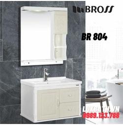 Bộ tủ chậu kèm gương Bross BR 804