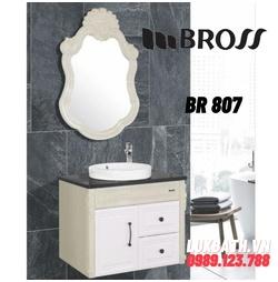 Bộ tủ chậu 2 ngăn kèm gương Bross BR 807
