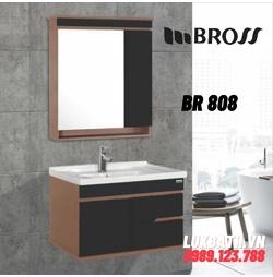 Bộ tủ chậu nhựa PVC 2 ngăn Bross BR 808