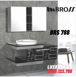 Bộ tủ chậu nhựa 2 ngăn PVC Bross BRS 788