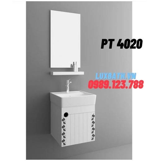 Bộ tủ chậu nhựa PVC 1 ngăn Potentech PT 4020