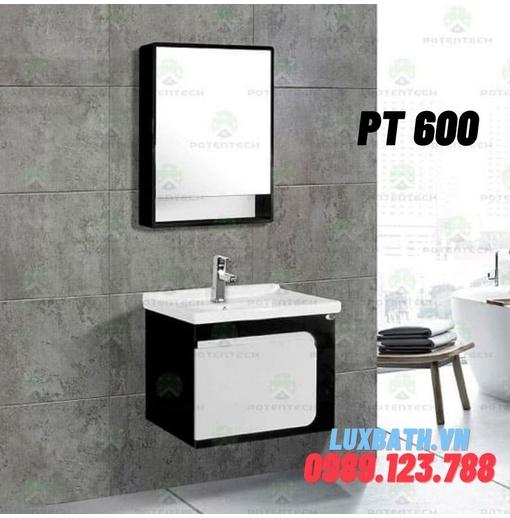 Bộ tủ chậu nhựa PVC 1 ngăn Potentech PT 600