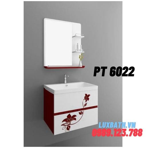 Bộ tủ chậu nhựa PVC 1 ngăn Potentech PT 6022