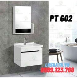 Bộ tủ chậu nhựa PVC 2 ngăn Potentech PT 602