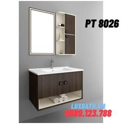 Bộ tủ chậu nhựa PVC 2 ngăn Potentech PT 8026