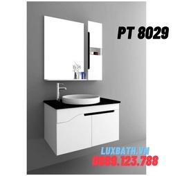Bộ tủ chậu nhựa PVC 2 ngăn Potentech PT 8029
