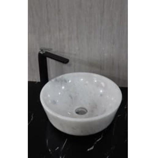 Chậu rửa lavabo màu trắng có vân Eximstone BST34