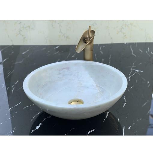Chậu rửa lavabo màu trắng onyx Eximstone BST51