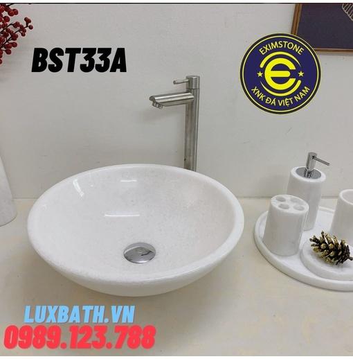 Chậu rửa lavabo màu trắng Eximstone BST33A