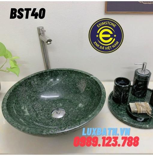 Chậu rửa lavabo màu xanh ấn độ Eximstone BST40