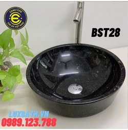 Chậu rửa lavabo màu đen Eximstone BST28