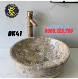 Chậu rửa lavabo dương bàn đá màu ghi Eximstone DK41