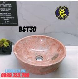 Chậu rửa lavabo màu hồng Eximstone BST30