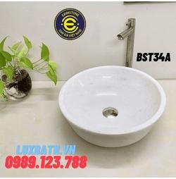 Chậu rửa lavabo màu trắng Eximstone BST34A