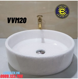 Chậu rửa lavabo màu trắng Eximstone TVM20