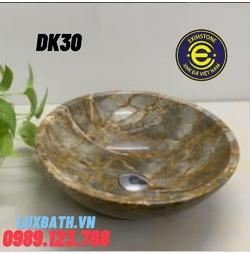 Chậu rửa lavabo màu vàng thanh hóa Eximstone DK30