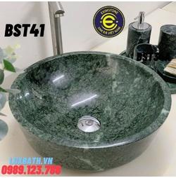Chậu rửa lavabo màu xanh ấn độ Eximstone BST41