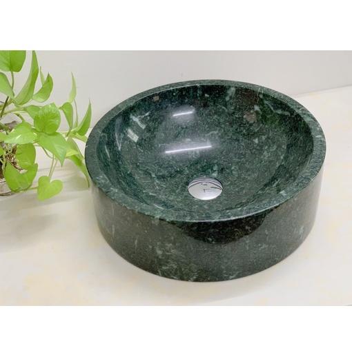 Chậu rửa lavabo tròn dày màu xanh ấn độ Eximstone BST50