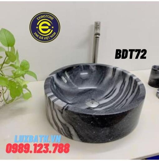 Chậu rửa lavabo tròn đáy thẳng Bangal Eximstone BDT72