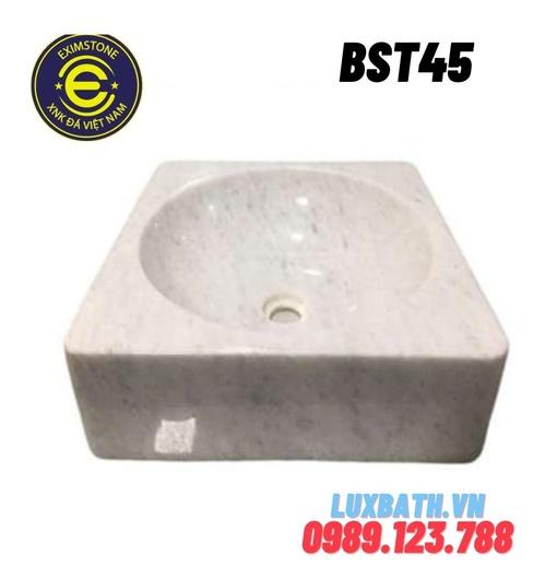 Chậu rửa lavabo vuông màu trắng Eximstone BST45