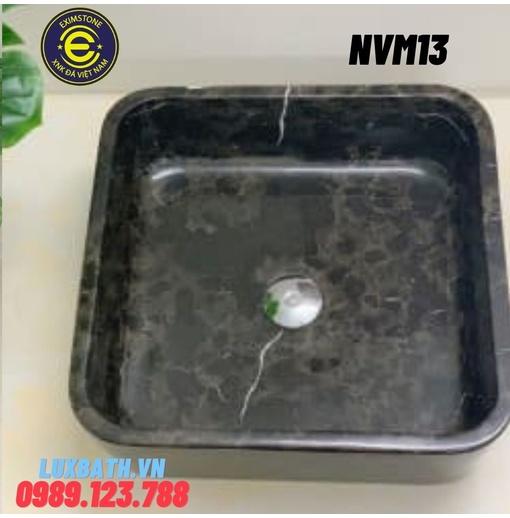 Chậu rửa lavabo vuông mỏng màu nâu ý Eximstone NVM13