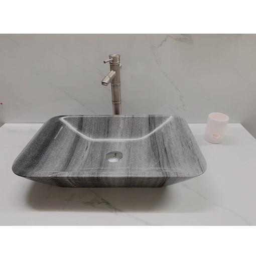 Chậu rửa lavabo chữ nhật màu xám Eximstone XCN15