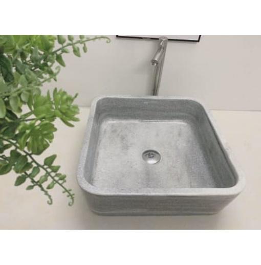 Chậu rửa lavabo chữ nhật mỏng màu xám nghệ an Eximstone XVM13