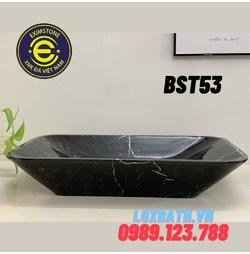 Chậu rửa lavabo chữ nhật màu đen Eximstone BST53