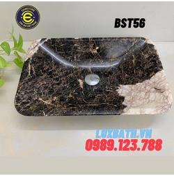 Chậu rửa lavabo chữ nhật màu nâu Eximstone BST56