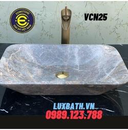 Chậu rửa lavabo chữ nhật màu vàng Eximstone VCN25