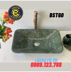 Chậu rửa lavabo chữ nhật màu xanh dưa Eximstone BST60