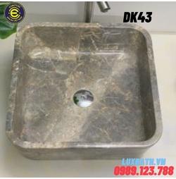 Chậu rửa lavabo vuông mỏng màu ghi Eximstone DK43