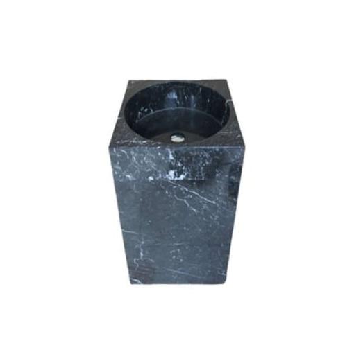 Chậu rửa lavabo vuông đứng màu đen Eximstone BST63