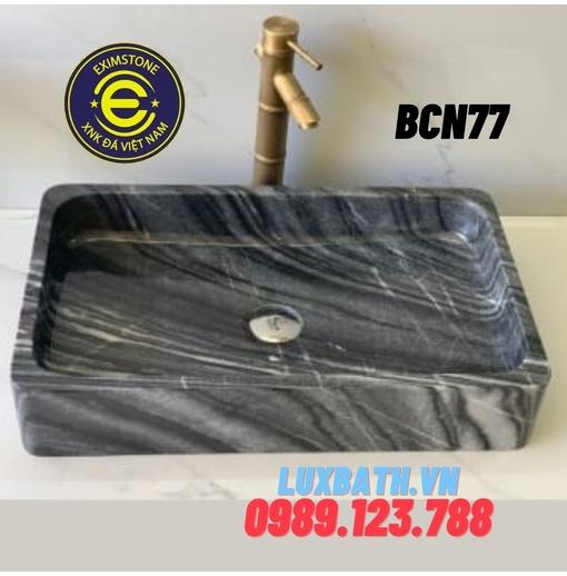 Chậu rửa lavabo chữ nhật mỏng bangal Eximstone BCN77