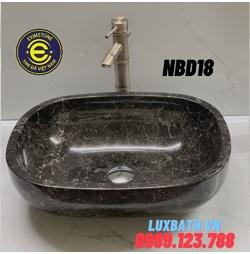 Chậu rửa lavabo bầu dục màu nâu Ý Eximstone NBD18