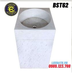 Chậu rửa lavabo vuông đứng màu trắng Eximstone BST62