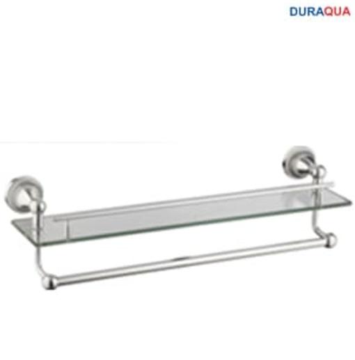 Kệ kính kèm vắt khăn mạ bạc Duraqua S6815